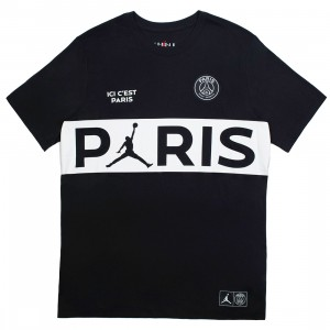 Jordan Men X Paris Saint-Germain Wordmark Tee (black / white)