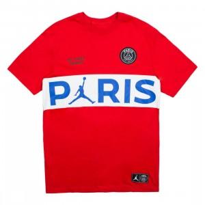 Jordan Men X Paris Saint-Germain Wordmark Tee (university red)