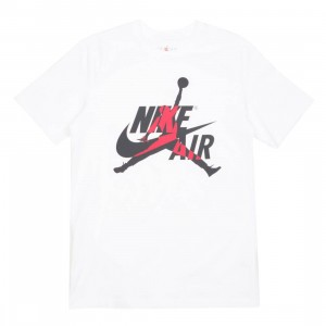 Jordan Men Classics Tee (white / gym red)
