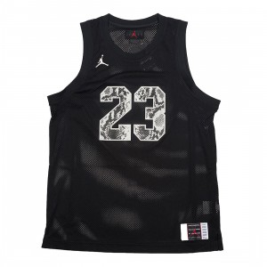 Jordan Men Legacy AJ 11 Snakeskin Jersey (black / light bone)