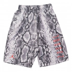 Jordan Men AJ11 Snakeskin Shorts (light bone / university red)