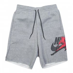 Jordan Men Jumpman Classics Shorts (carbon heather / black / gym red / black)