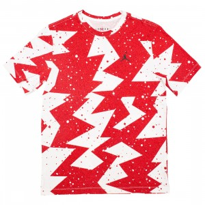Jordan Men Printed Poolside Tee (gym red)