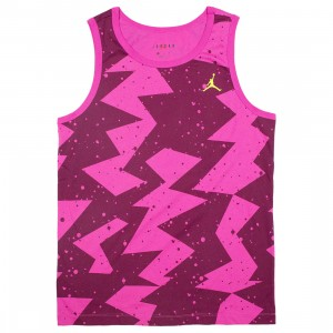 Jordan Men Printed Poolside Tank Top (bordeaux)