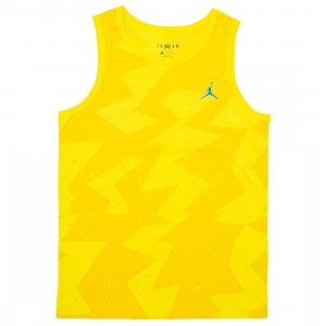 Jordan Men Printed Poolside Tank Top (amarillo)
