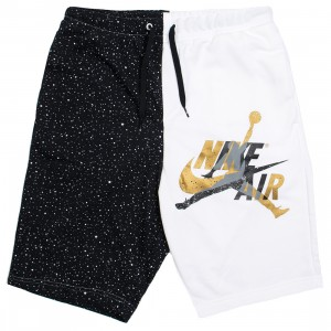 Jordan Men Jumpman Classics Shorts (white / black / metallic gold)