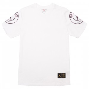 Jordan Men Jordan x Paris Saint-Germain Logo Tee (white)