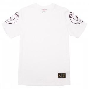 Jordan Men x Paris Saint-Germain Logo Tee (white)