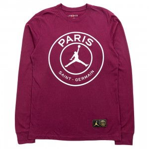 Jordan Men Jordan x Paris Saint-Germain Long Sleeves Tee (bordeaux)