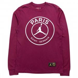 Jordan Men Jordan x Paris Saint-Germain Long Sleeves Tee (bordeaux)