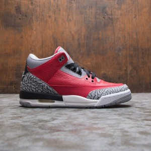Air Jordan 3 Retro SE Big Kids (fire red / fire red-cement grey-black)