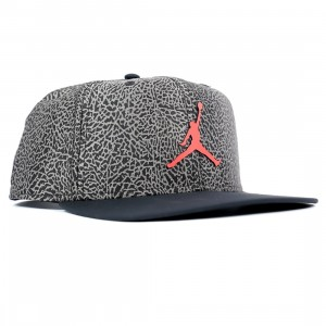 Jordan Men Pro Cap (atmosphere grey / black / black / infrared 23)
