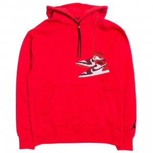 Jordan Men Jumpman Holiday Hoody (gym red)