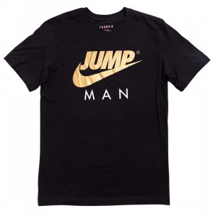 Jordan Men Jumpman Tee (black / metallic gold)