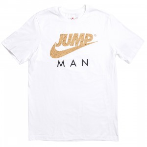 Jordan Men Jordan Jumpman Tee (white / metallic gold)
