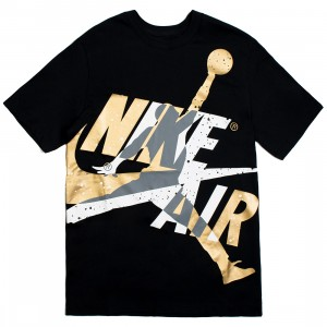 Jordan Men Jumpman Classics Tee (black / smoke grey / metallic gold)