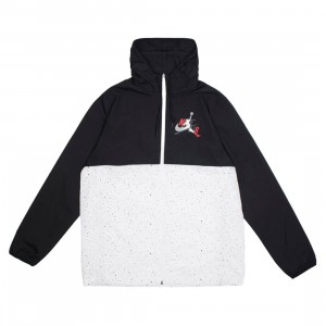 Jordan Men Jumpman Classics Jacket (black / white / white / gym red)