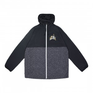 Jordan Men Jumpman Classics Jacket (black / white / smoke grey / metallic gold)