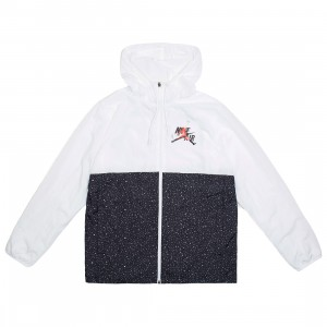 Jordan Men Jumpman Classics Jacket (white / black / infrared 23 / metallic silver)