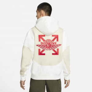 Jordan Men Jordan x Off-White Hoody (sail / fossil / university red)