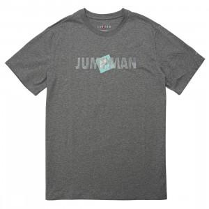 Jordan Men Jumpman Classics Tee (carbon heather / white)
