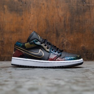 Air Jordan 1 Low Women (black / metallic gold-multi-color-white)