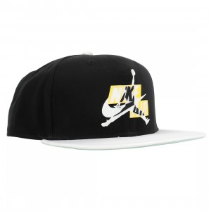 Jordan Men Jumpmans Classics Pro Snapback Cap (black / white / igloo / white)