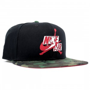 Jordan Men Jumpmans Classics Pro Snapback Cap (medium olive / camo print / gym red / white)