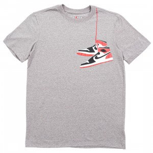 Jordan Men AJ1 Tee (carbon heather)