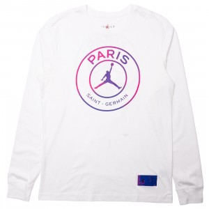 Jordan Men Paris Saint-Germain Long Sleeves Tee (white)