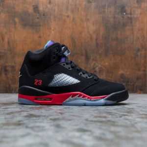 AIR JORDAN 5 RETRO (GS) Big Kids (black / new emerald-fire red-grape ice)