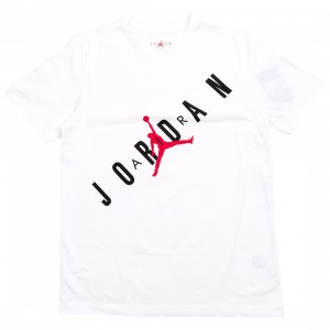 Jordan Men HBR Tee (white / black / gym red)