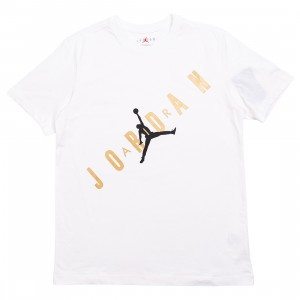 Jordan Men HBR Tee (white / metallic gold)