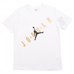 Jordan Men HBR Tee (white / metallic gold)