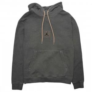 Jordan Men Flight Heritage Washed Fleece Pullover Hoody (black)
