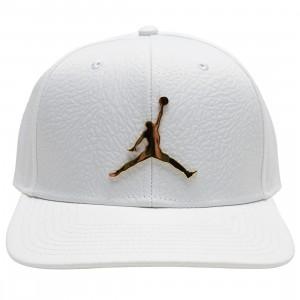 Jordan Men Pro Ingot Cap (white / metallic gold)