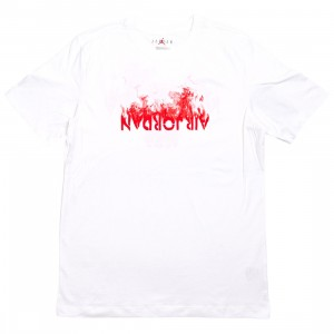 Jordan Men AJ4 Tee (white / university red)