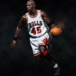 NBA x Enterbay Michael Jordan 1/6 Scale 12 Inch Figure - #45 Home Version (white)