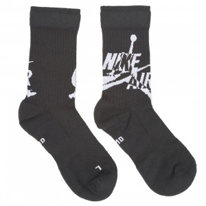 Jordan Men Legacy Jumpman Socks (black / white)