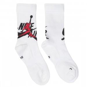 Jordan Men Legacy Jumpman Socks (white / gym red / black)
