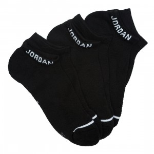 Jordan Men Unisex Jumpman No-Show Socks - 3 Pairs (black / black / black)