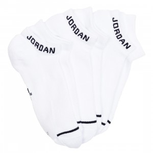 Jordan Men Unisex Jumpman No-Show Socks - 3 Pairs (white / white / white / black)
