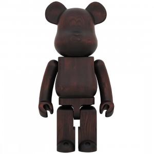 Medicom Karimoku Rosewood Paint 1000% Bearbrick Figure (brown)