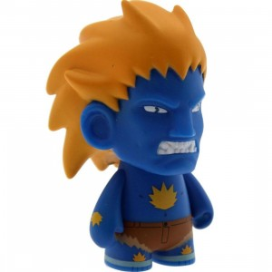 Kidrobot Street Fighter 3 Inch Mini Series Blanka Figure - 1/20 Ratio (blue)
