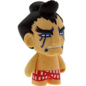 Kidrobot Street Fighter 3 Inch Mini Series E Honda Figure - 1/20 Ratio (blue / red)