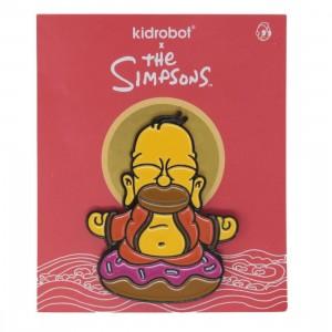 Kidrobot The Simpsons Homer Buddha Enamel Pin (yellow)