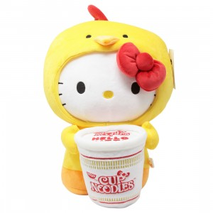 Kidrobot x Nissin Cup Noodles x Sanrio Hello Kitty Chicken Cup Medium Plush (yellow)