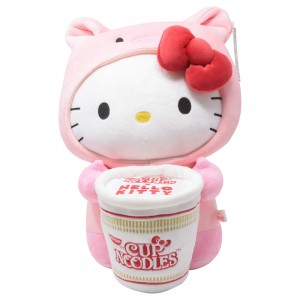 Kidrobot x Nissin Cup Noodles x Sanrio Hello Kitty Pork Cup Medium Plush (pink)