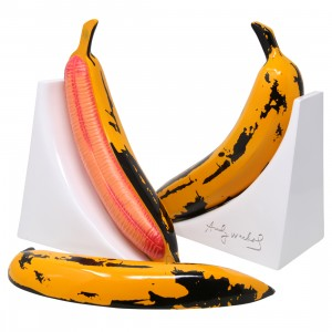 Kidrobot Andy Warhol Resin Banana Bookends - Yellow Edition (yellow)