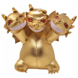 Kidrobot Godzilla Ghidorah Phunny Plush (gold)